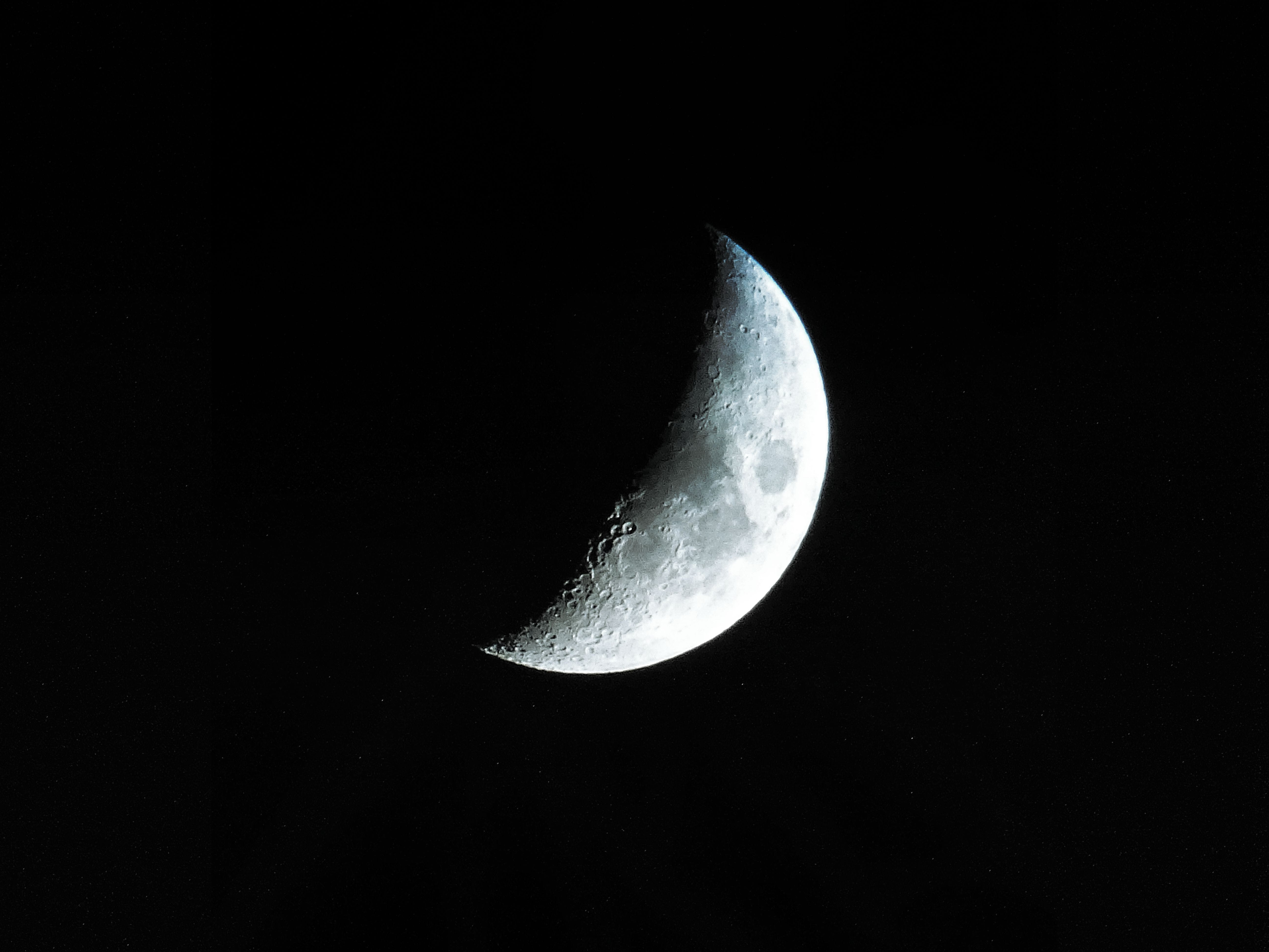 Half Moon at Nighttime
