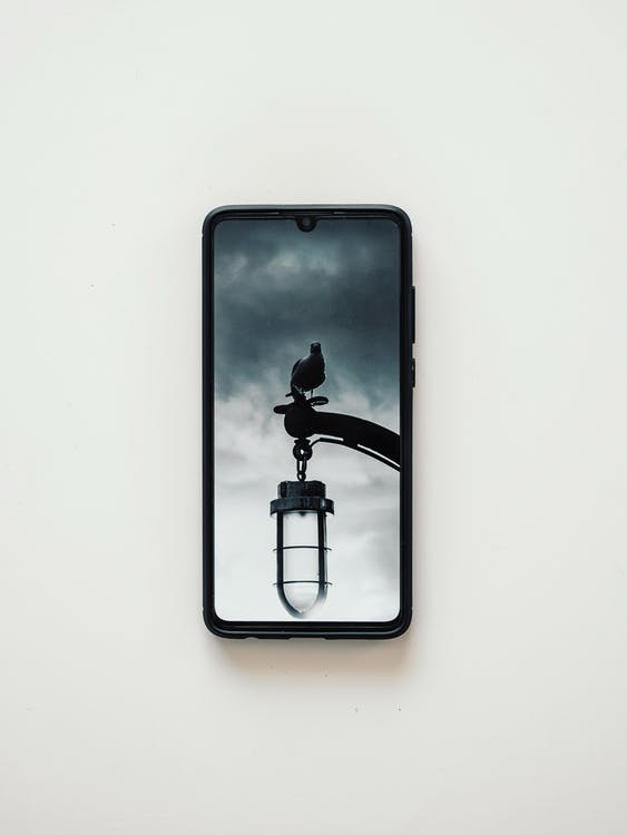 Black Smartphone on White Table