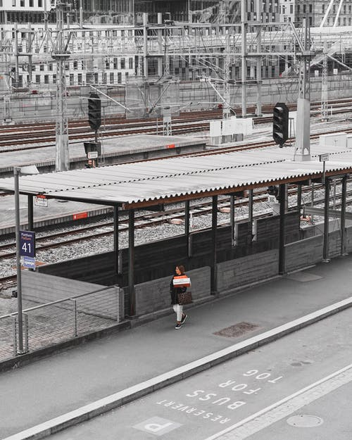 Person At The Train Station