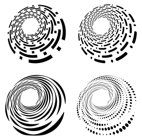 Free stock photo of clip-art, clipart, cochlear, concentric