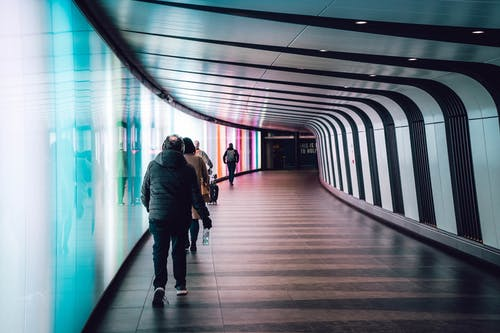 People Inside A Tunnel