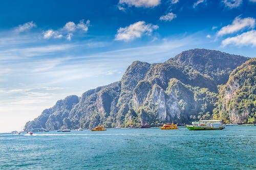 Imagine de stoc gratuită din ambarcațiuni, bărci, destinația calatoriei, insulă
