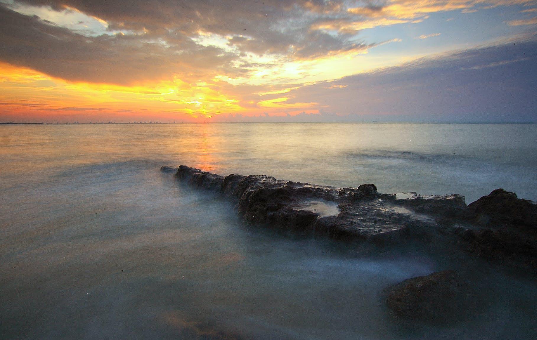 clouds, dawn, dusk