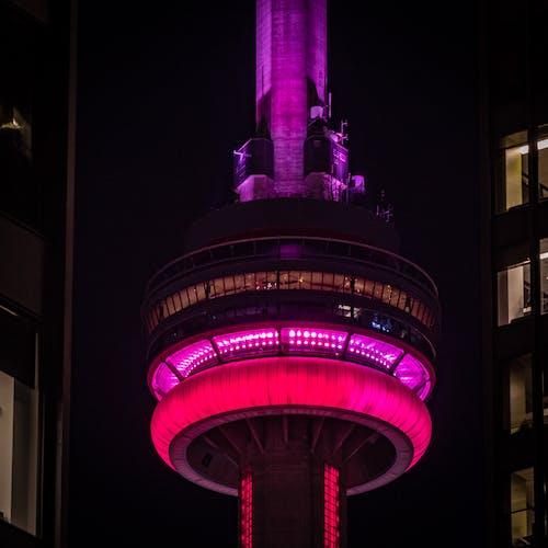 Free stock photo of cn tower, night photography, toronto