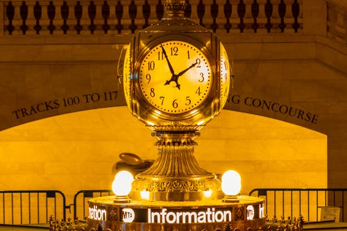 Free stock photo of clock, grand central station, new york