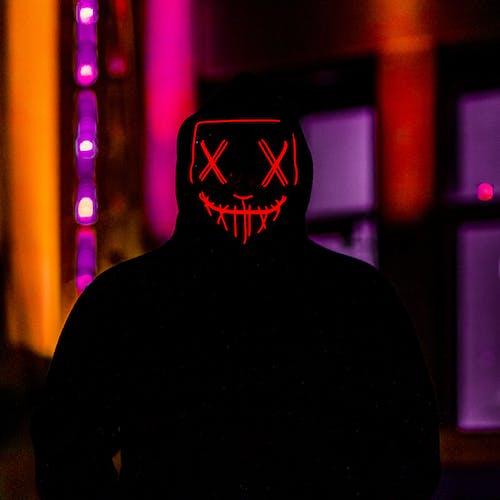 Free stock photo of light up mask, mask, nighttime