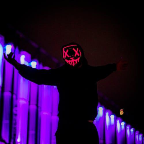 Free stock photo of led mask, mask, nighttime