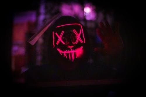 Free stock photo of led mask, light up mask, purge mask