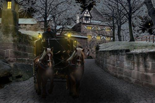 Foto stok gratis bus, dingin, gerbong, Kastil