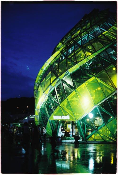 Kostenloses Stock Foto zu anh sang, màu xanh lá, verbot đêm