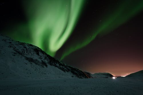 Photo of Aurora Borealis at Night Time