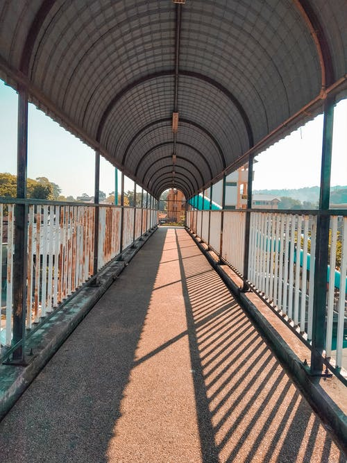 Photo Of A Footbridge With Roof