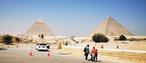 People Near A Pyramid