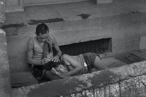 Free stock photo of Homeless Couple in Manila