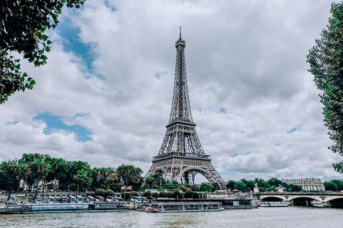 Eiffel Tower Under Cloudy Sky