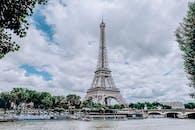 Eiffel Tower Under Cloudy Sky