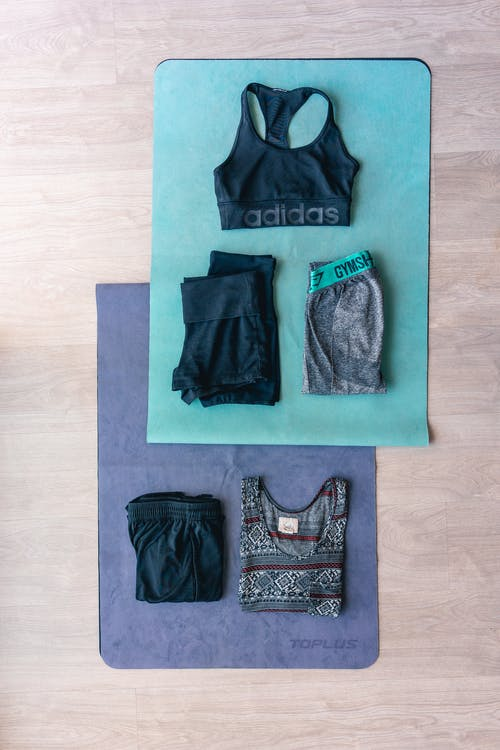 Flat Lay Of Workout Clothes