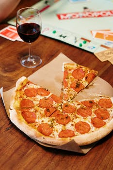 nourriture pizza mains texture