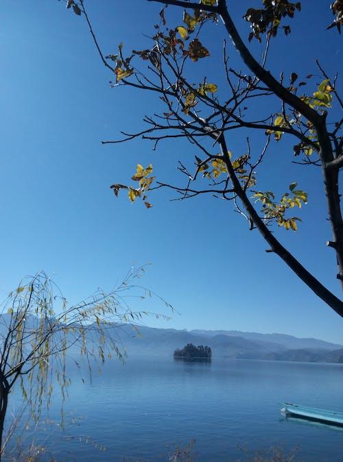 Ilmainen kuvapankkikuva tunnisteilla järvi vesi puu loma vuori
