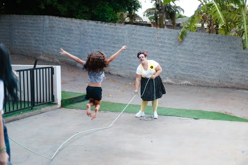 People Playing Jump Rope
