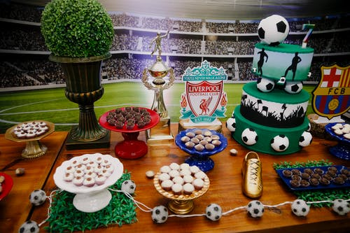 Soccer Themed Dessert Table