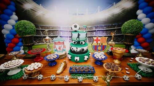 Soccer Themed Dessert Table