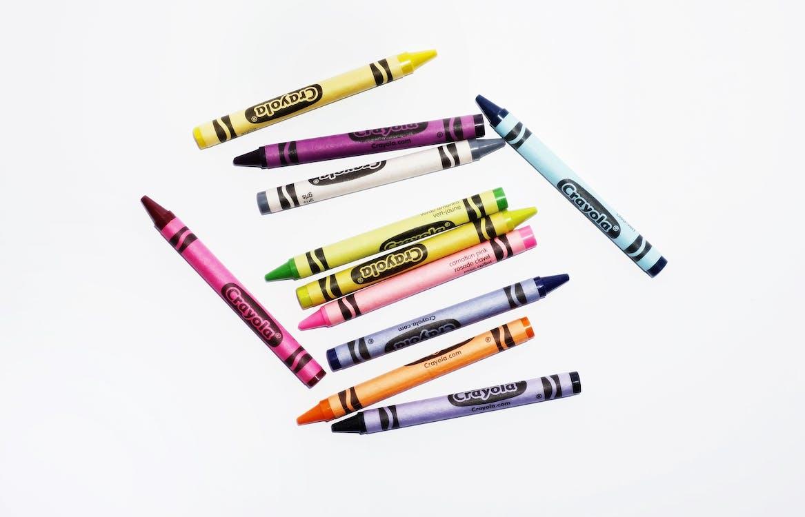 คลังภาพถ่ายฟรี ของ งานฝีมือ, ดินสอสี, มีสีสัน