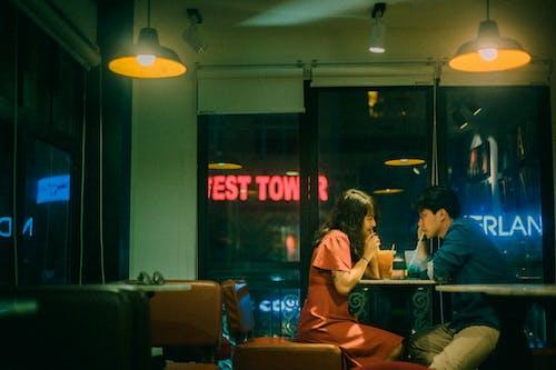 Gratis stockfoto met affectie, afspraakje, avond, Aziatisch stel