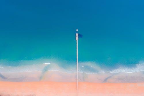 Long Dock Under Blue Sky