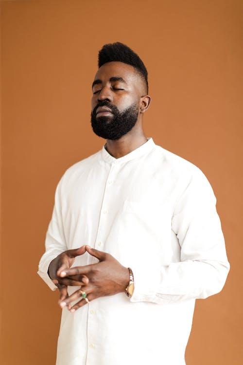 Základová fotografie zdarma na téma afroameričan, černoch, knír, muž