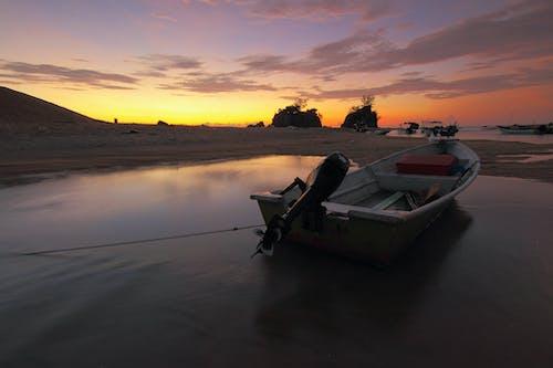 Photos gratuites de aube, bateau, bateaux, bord de mer