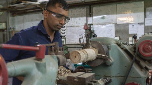Free stock photo of lathe machine, skilled, turning