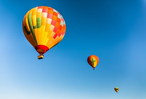 Free stock photo of air travel, altitude, balloon launch