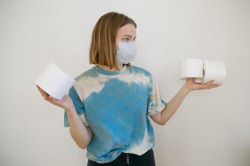 Woman Hoarding Tissue Paper