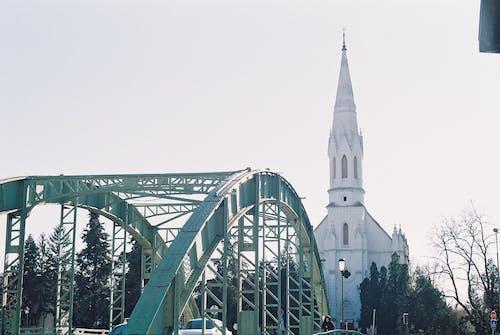 Free stock photo of analog photography, bridge, church, city