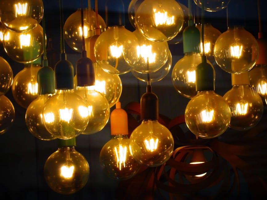 Incandescent Bulbs Hanging