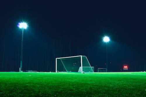 Free stock photo of evening, field, goal, grass