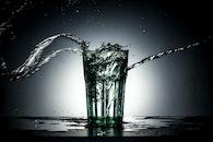 water, dark, glass