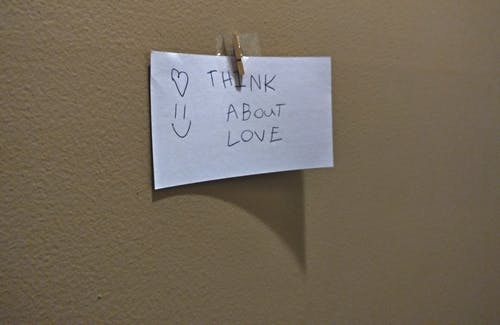 Free stock photo of love, note