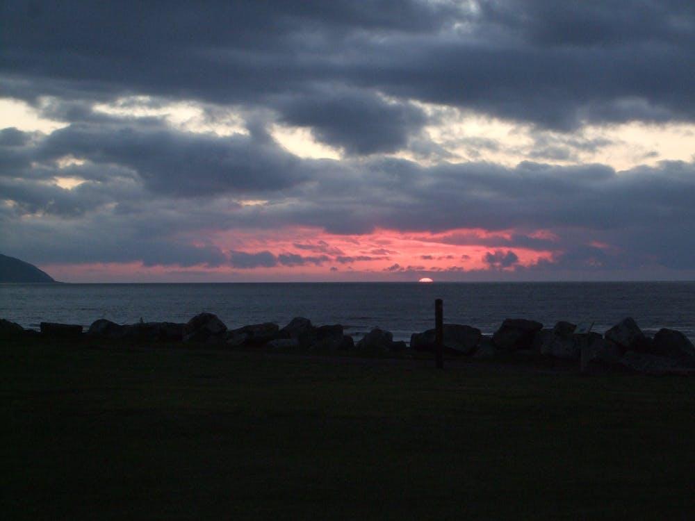Free stock photo of evening sun, night sky, red sky
