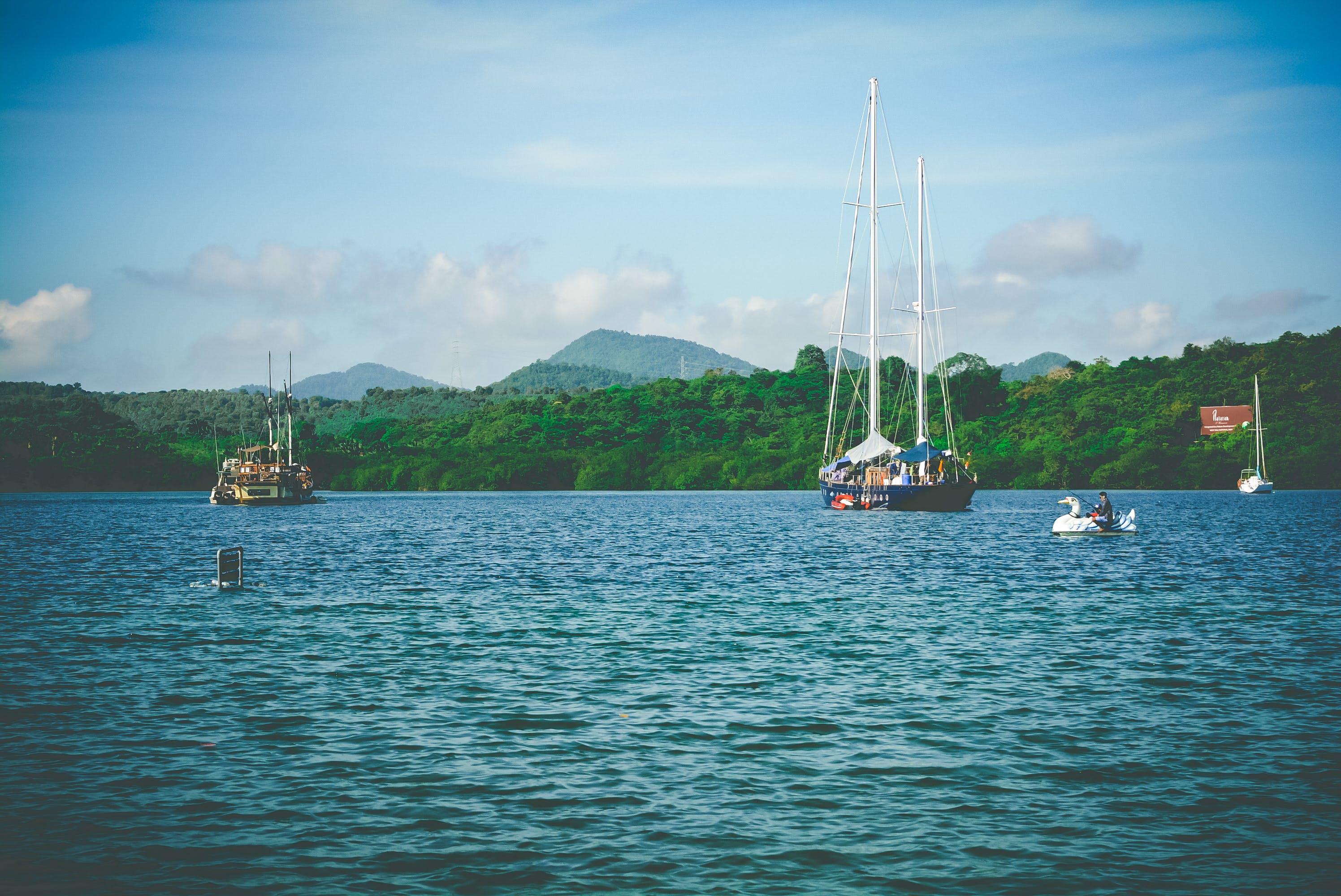 beach, boat, calm waters