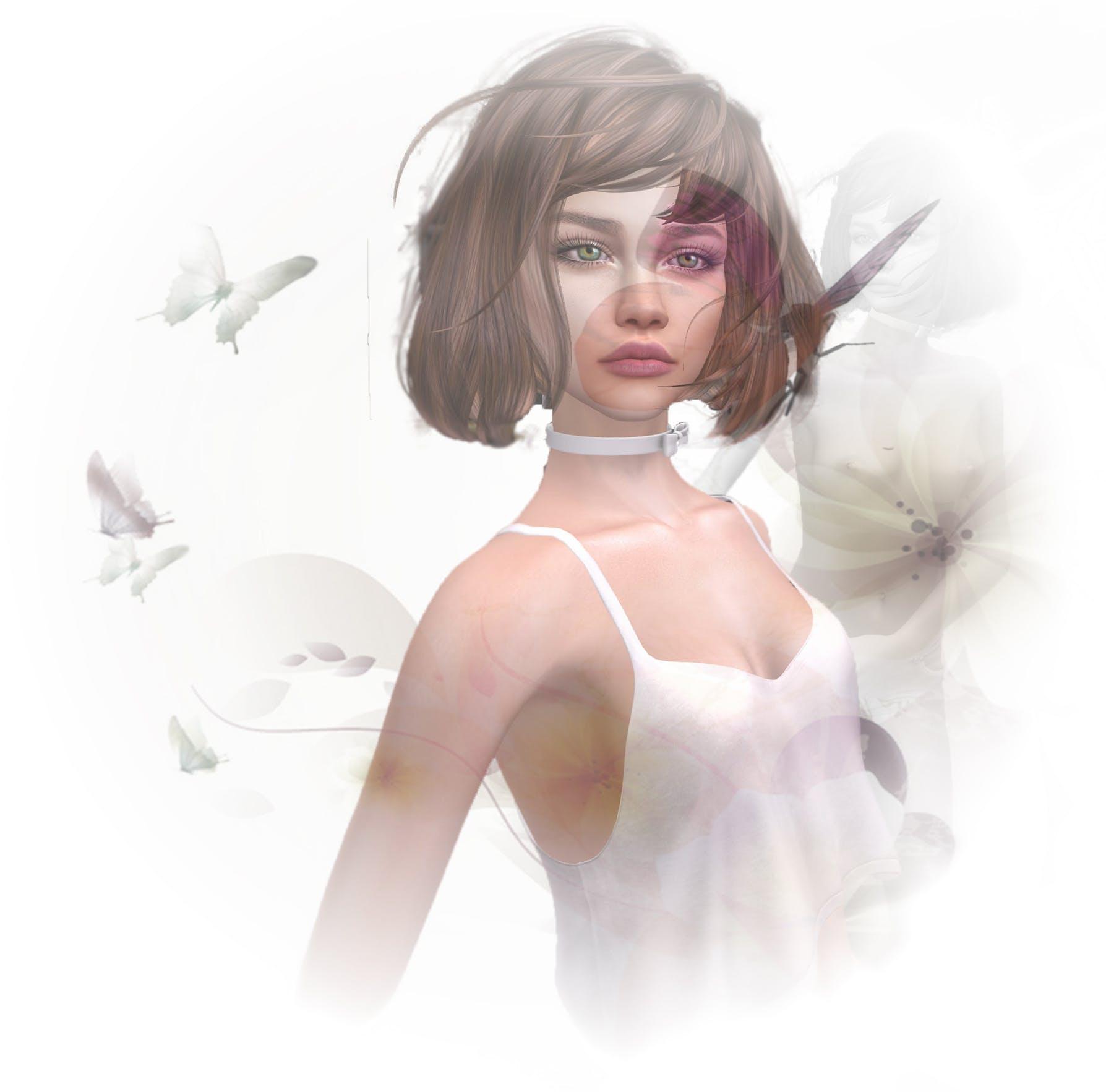 Free stock photo of beautiful girl, digital art, nude
