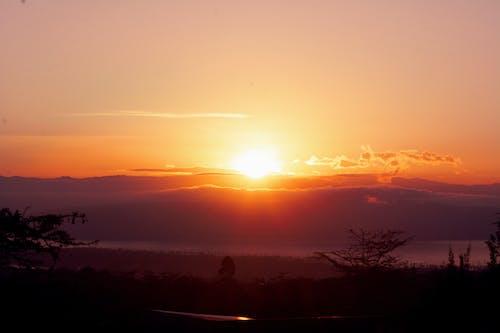 Free stock photo of sunrise, sunrise over mountain