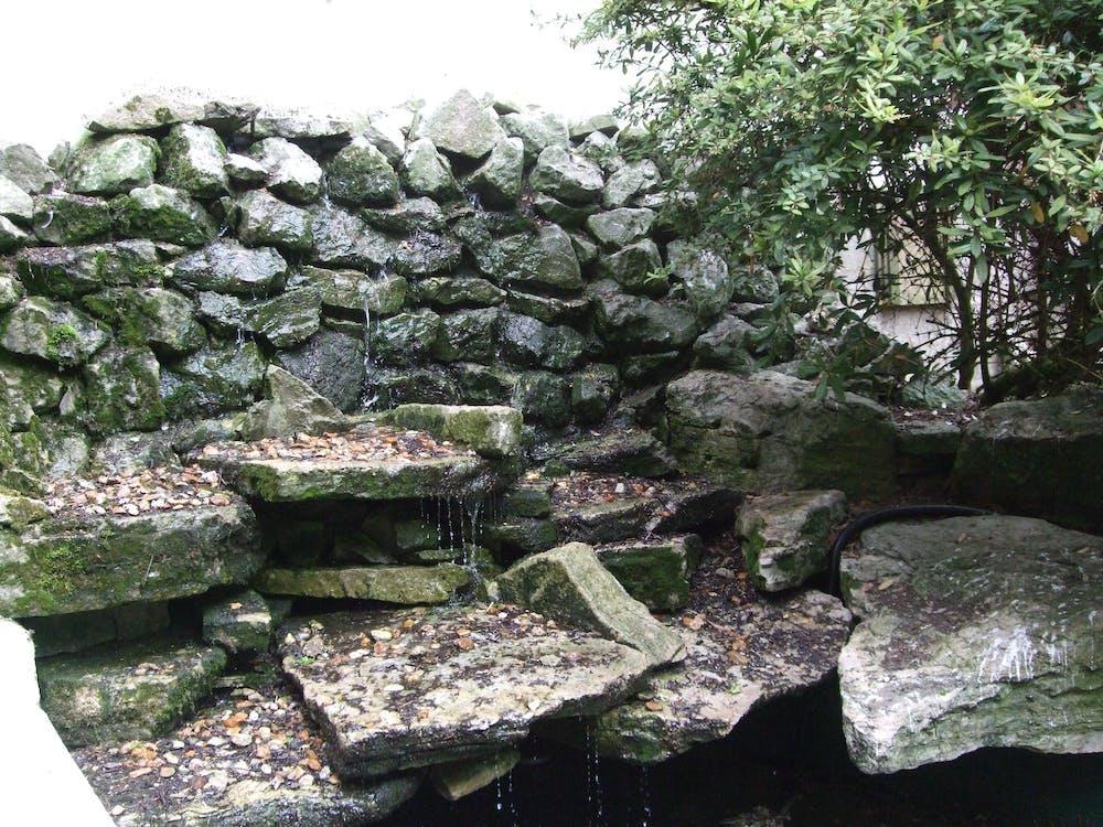 Free stock photo of mossy rocks, waterfall