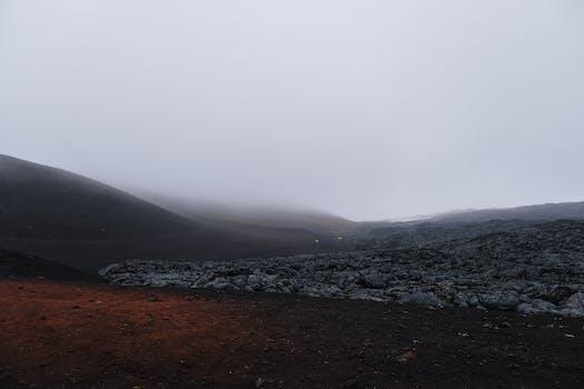 Walk on a lava field