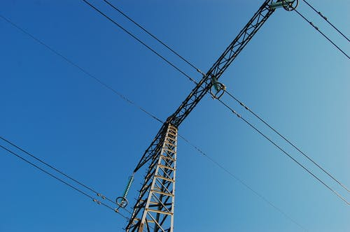 Free stock photo of blue, line, powerline