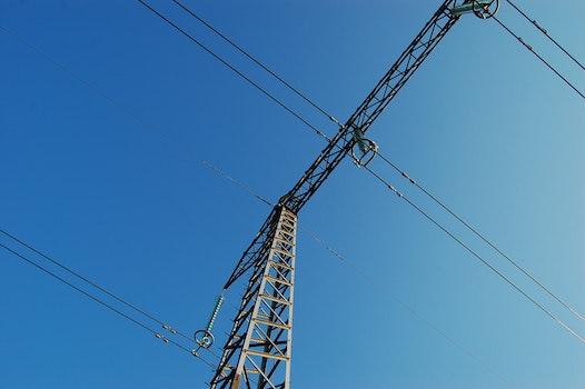 Free stock photo of sky, blue, outside, line