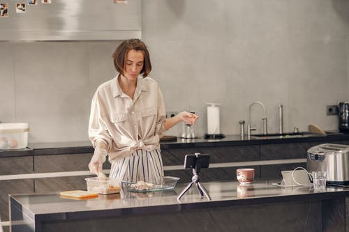 Woman Cooking For Dinner