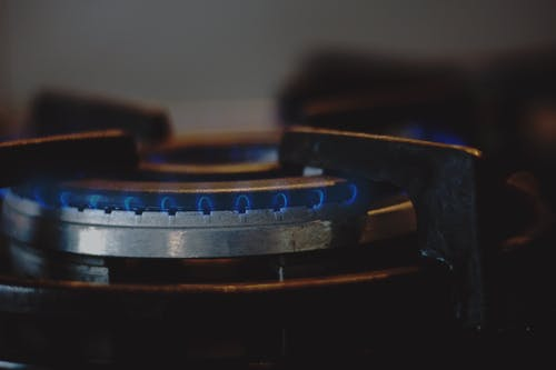 Free stock photo of blue, cooker, fire