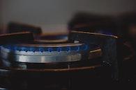 blue, fire, kitchen